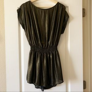 H&M gold&black mini dress, size 34 or Small